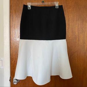 H&M Black & White Flared Skirt